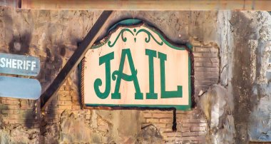 Sign of jail