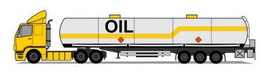 Tank trailer vector