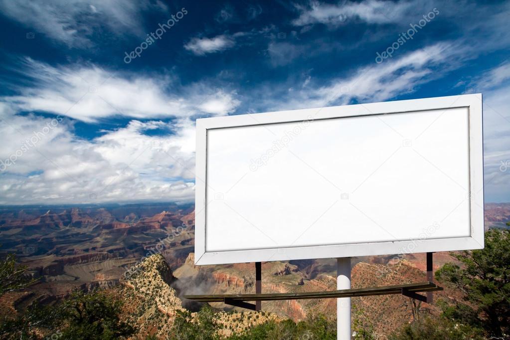 Blank Billboard Sign at the Grand Canyon