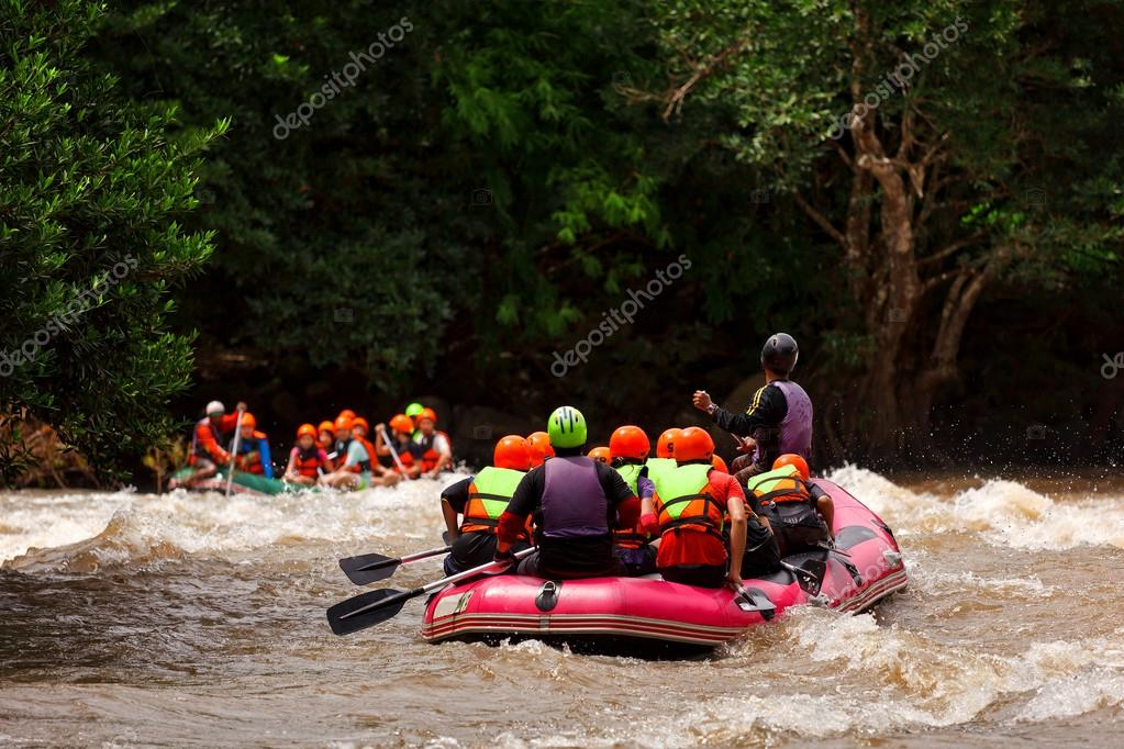 Rafting in river of northern Thailand