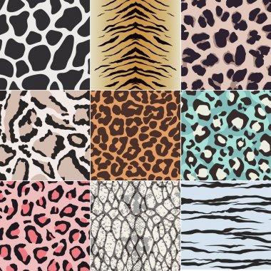 Seamless animal skin fabric textile pattern