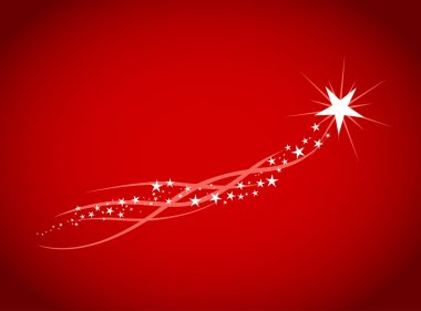 Shiny stars isolated on red background