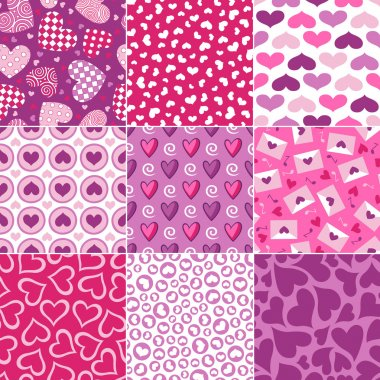 Seamless heart pattern for valentines day stock vector