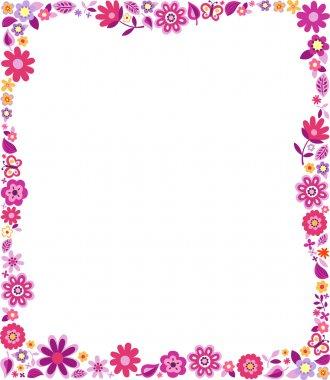 Floral pattern border frame clip art vector