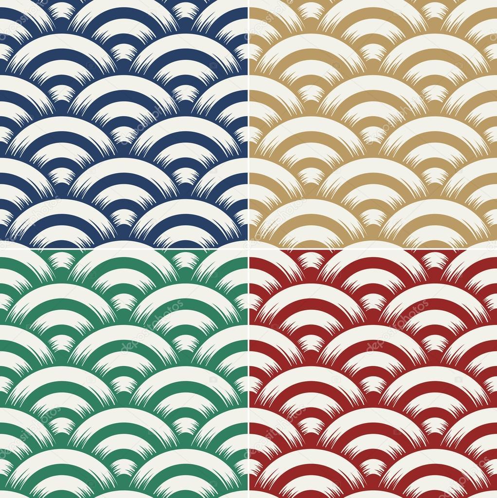 seamless ocean wave texture pattern