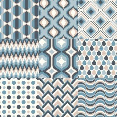 Teal blue pastel color pattern