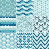 Varrat nélküli retro hullám minta nyomtatása