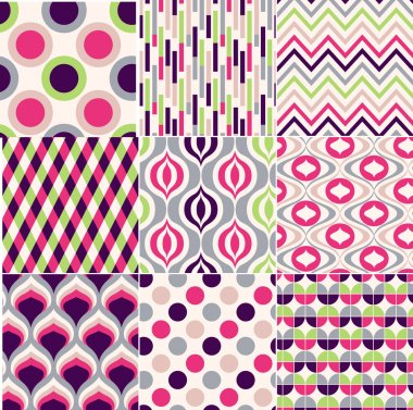 Colorful seamless geometric pattern