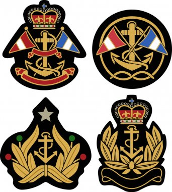 Nautical emblem badge shield