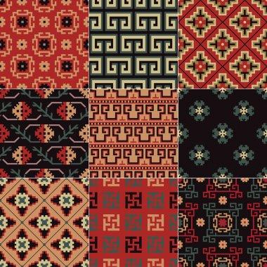 Seamless Chinese Turkestan pattern