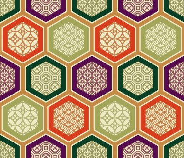 Seamless traditional japanese pattern stock vector