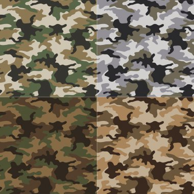 Seamless camouflage pattern stock vector