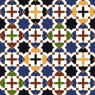 Seamless moroccan islamic tile pattern