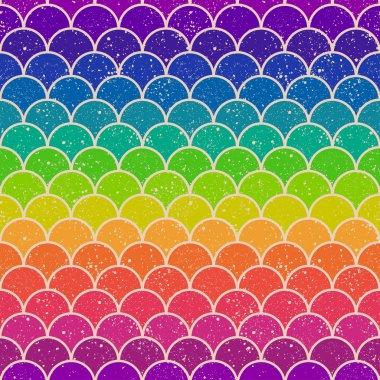 Seamless ocean wave pattern clip art vector
