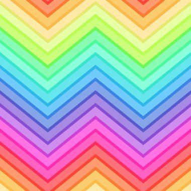 Seamless rainbow chevron pattern