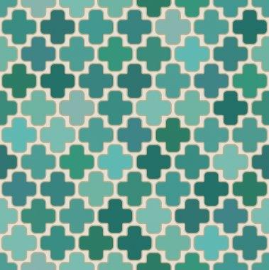 Seamless islamic cross geometric pattern
