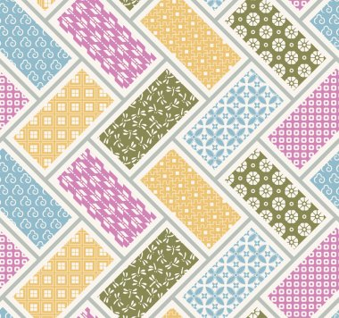 Seamless japanese traditional quilting pattern