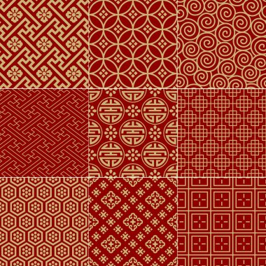 Seamless traditional auspicious chinese mesh pattern