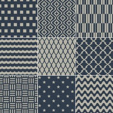 Seamless geometric pattern grain paper texture