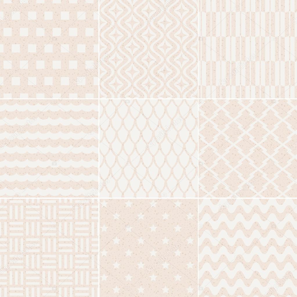 Seamless geometric pattern grain paper texture — Stock
