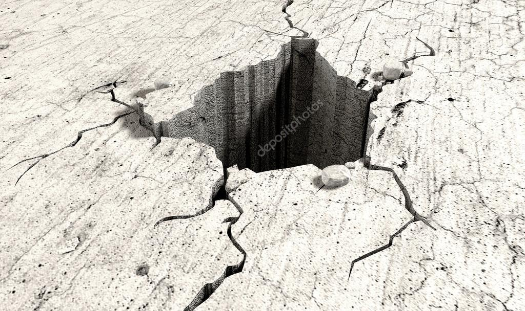 Hole In The Cracked Ground Perspective