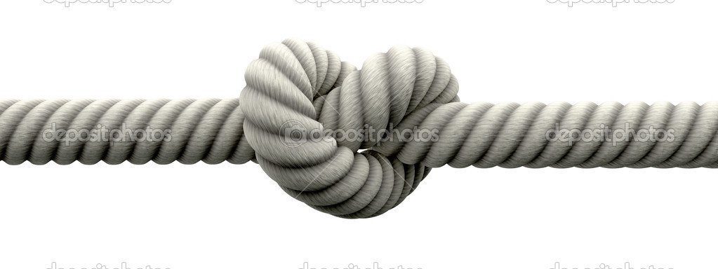 The Wedding Knot.Tie The Knot With Wedding Rings Stock Photo C Albund 13757913