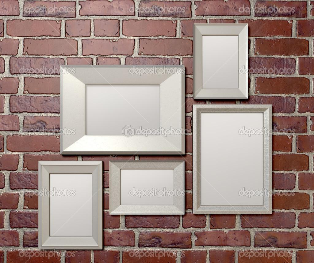 leere Bilderrahmen an einer Wand-front — Stockfoto © albund #16979543