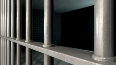 Jail Cell Bars Closeup
