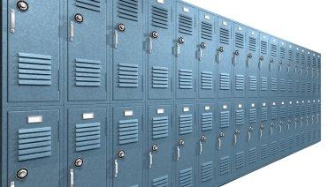 Blue School Lockers Perspective