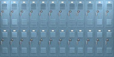 Blue School Lockers Front