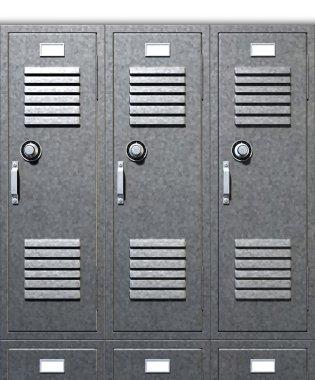 Grey School Lockers Front