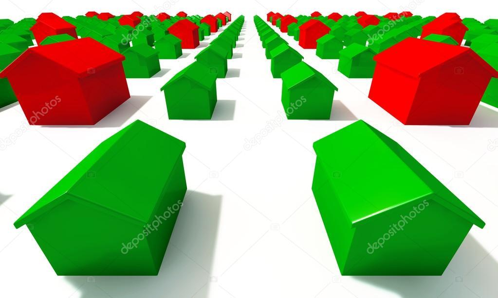 Monopol Haus Raster oben — Stockfoto © albund #23667091