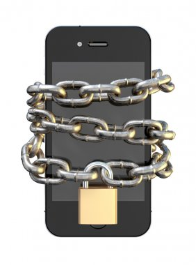 Chained And Padlocked Smartphone