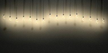 Light Bulbs Against Acoustic Foam