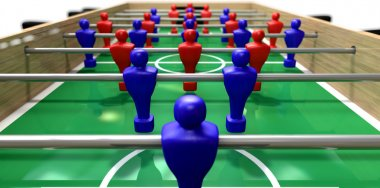Foosball Table Perspective