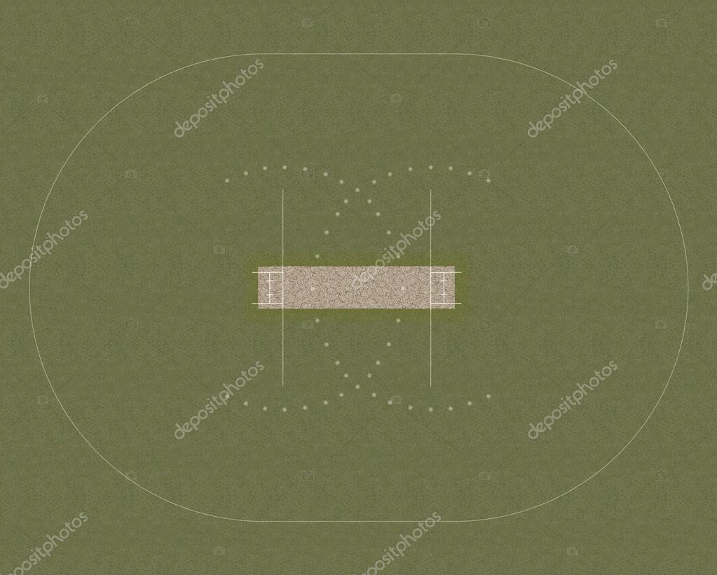 Picture A Cricket Field Cricket Field Layout Stock