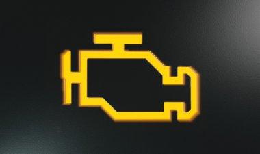 Orange Check Engine Indicator Dash Light