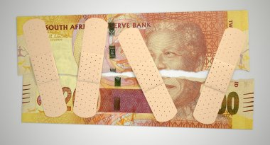 Nursed Torn South African Rand