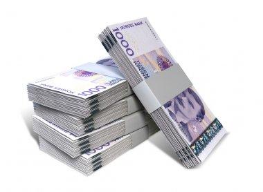 Norwegian Krone Notes Bundles Stack