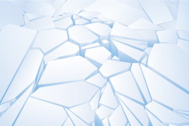 Chopped blue ice. Vector Illustration
