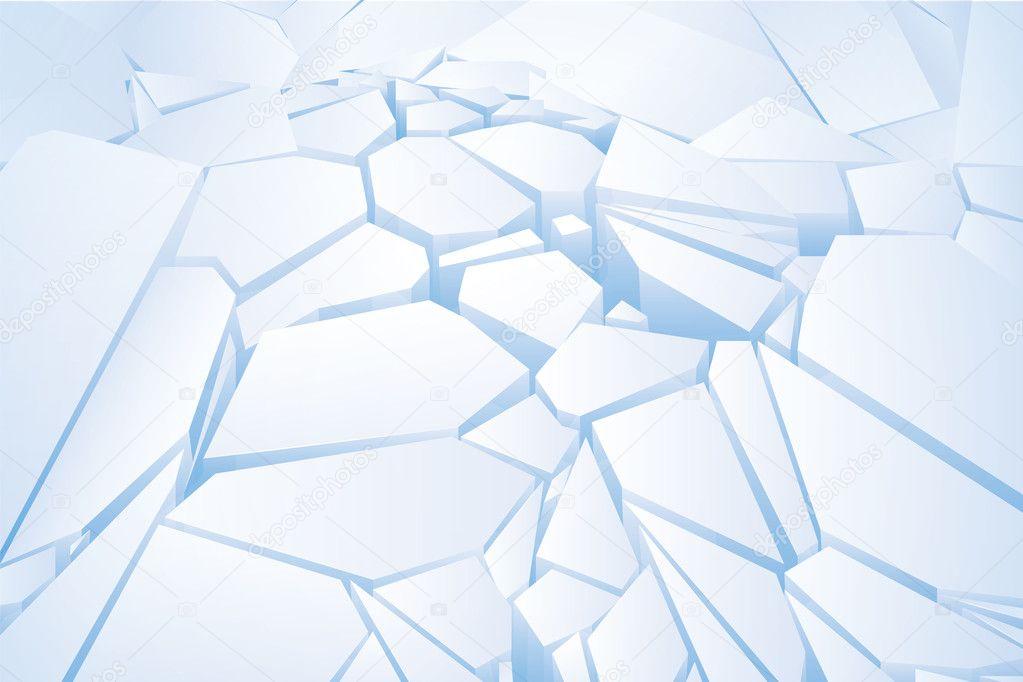 Chopped blue ice. Vector Illustration