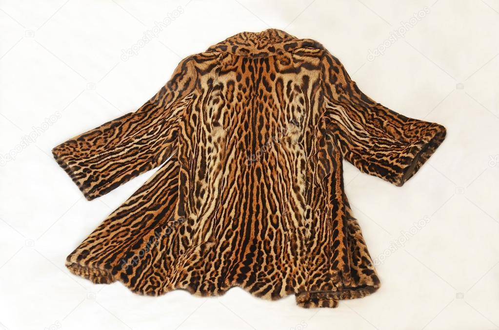 Abrigo piel ocelote