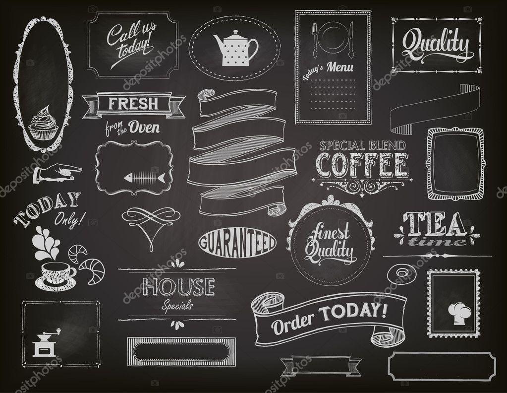 Black Menu Chalk Board For Kitchen