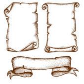 handgezeichnete Schriftrollen