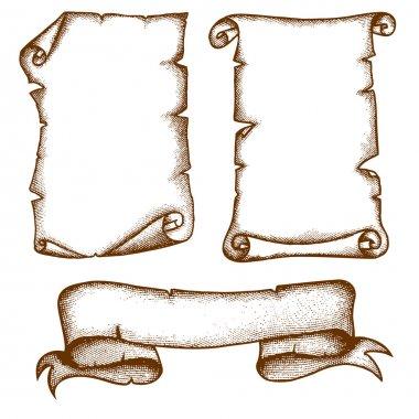 Hand-drawn Scrolls