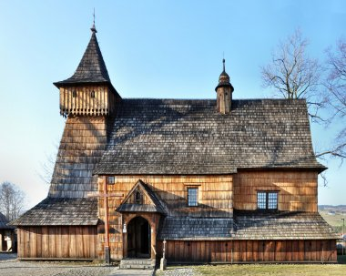 Old Wooden Church in Debno, Poland