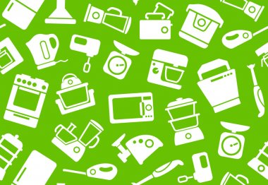 Background of kitchen home appliances
