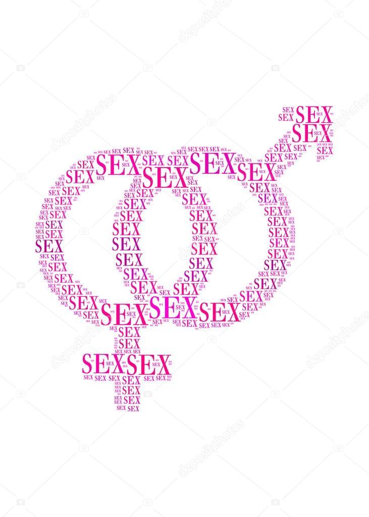 Sexuln Symbol V Textu Obrzek A Uspodn Koncepce Stock