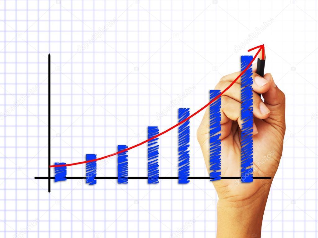 männliche Hand zeichnen ein Diagramm — Stockfoto © supakitmod #13180606