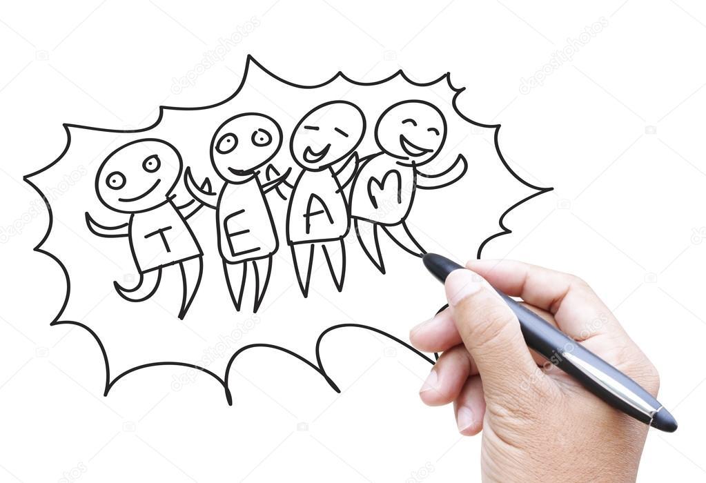 Dibujos: que representan trabajo en equipo | dibujos animados de ...